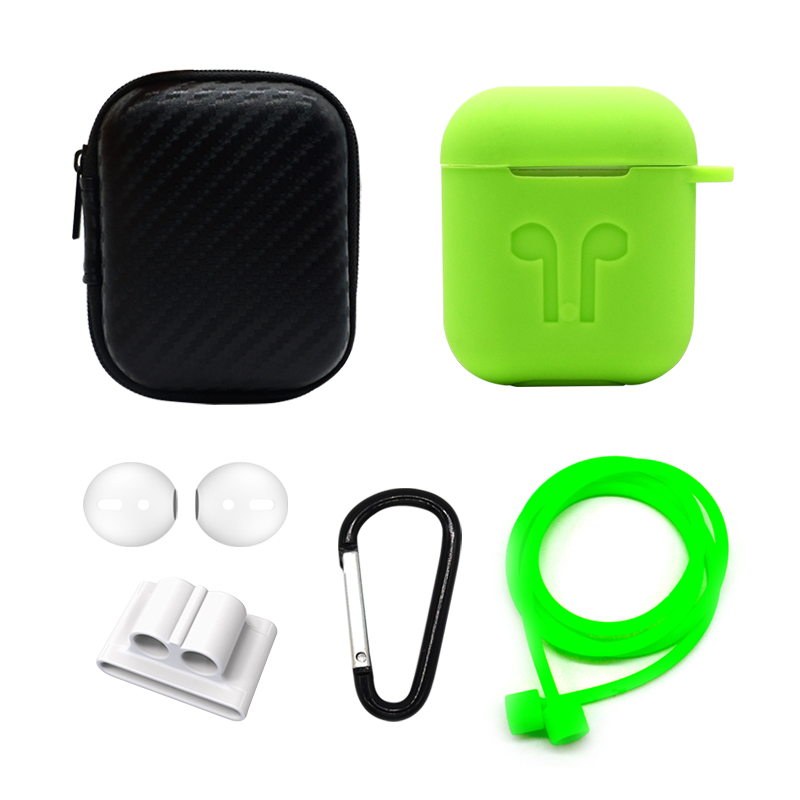 Earphone Case For Apple Airpod strap Soft Silicone headphone Case Earphone accessories Protective wireless Cover 6PCS