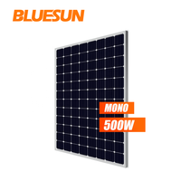 Bluesun 500w monocrystalline solar panels 5bb 48v 96 solar panel cell 500 watt PV modules panel
