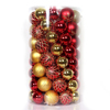 Colorful custom shatterproof plastic christmas ball ornaments set for Christmas decoration