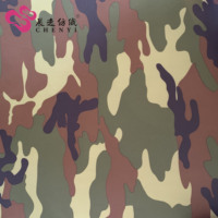 100% polyester taffeta water repellent camouflage fabric