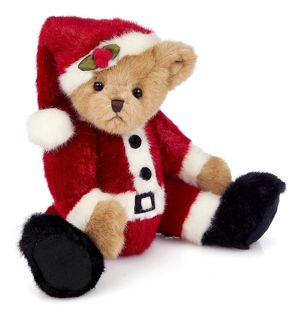 "Customized 14"" Stuffed Toy Papa Santa Beary Plush Christmas Teddy Bear"