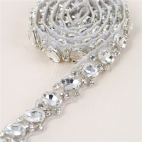 Wedding dress sparkle rhinestone trimming rolls crystal applique