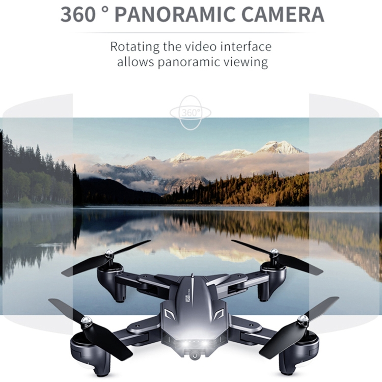 Portable Foldable Optical Flow Positioning Remote Control Aircraft RC Quadcopter Drone with 4K WIFI Double Camera