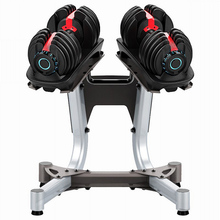 Home Gym <span class=keywords><strong>Dumbbell</strong></span> Kebugaran Profesional Peralatan 24Kg 40Kg Disesuaikan Dumbel <span class=keywords><strong>Set</strong></span> With Stand