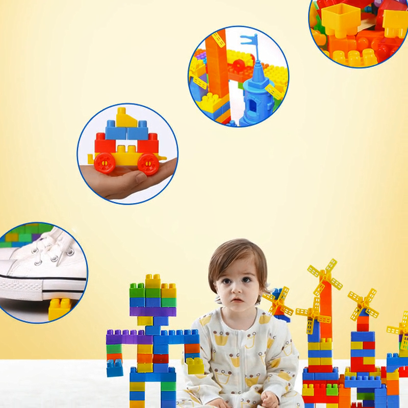 Hot Sale Early Education Plastic Blocks Large Puzzle Particles Building Blocks For Kids