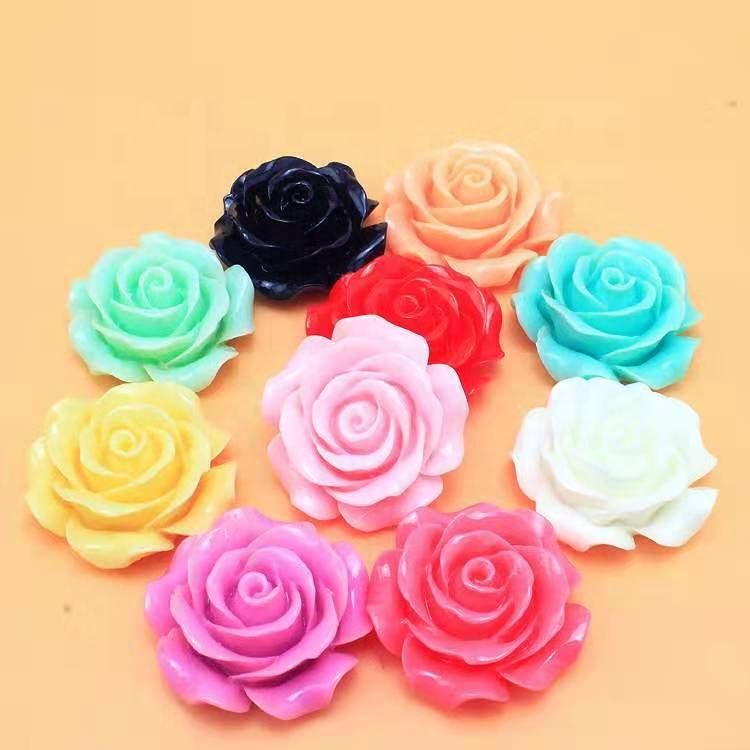 new fashion good quality  Candy colors Resin Flower Cabochons beads  for DIY Jewelry making