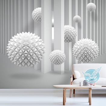 Modern Wholesale 3D Space Art Vinyl Wallpaper Waterproof Wall Mural  Custom for Living room Decoration