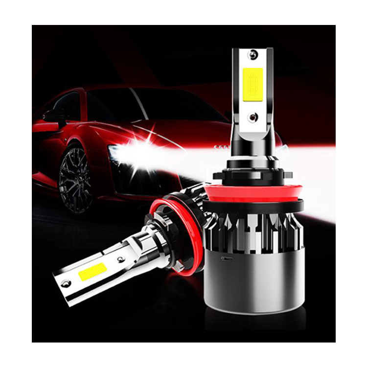 2019 new item two side 880 881 upgrade Product Small Size <strong>LED</strong> <strong>Headlight</strong> P16 <strong>cob</strong> <strong>LED</strong> Chip canbus h4 h7 bulbs for all car