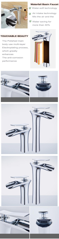 Bathroom Faucet Sink Mixer Water Tap Waterfall Basin Faucets