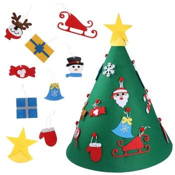 गर्म बिक्री क्रिसमस उपहार 24 दिनों आगमन कैलेंडर क्रिसमस फांसी महसूस किया