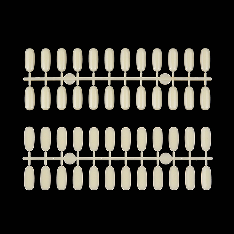 long curved acrylic false nails kit 24pcs full cover free false nails artificial clear short false nails nail art display card