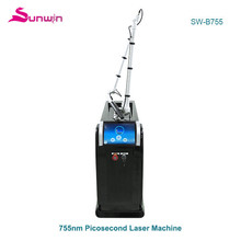 B755 Home use black doll skin wihtening picosure laser all color tattoo removal picosecond laser system