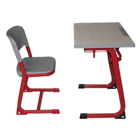 Plastic Material and Commercial Funiture General Use comfortable school desk & chair