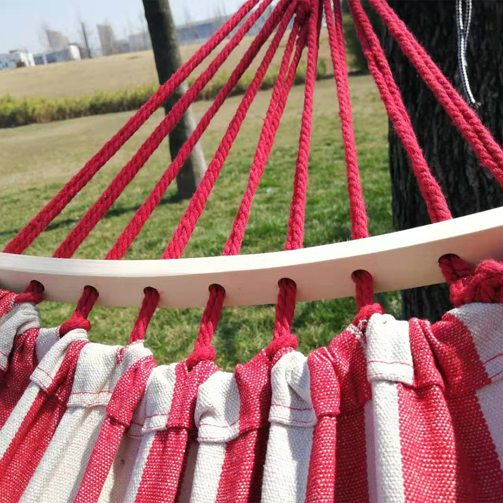 Hot Sell Portable Folding Parachute Camping Hammock Swings Canvas Hammock with Stick