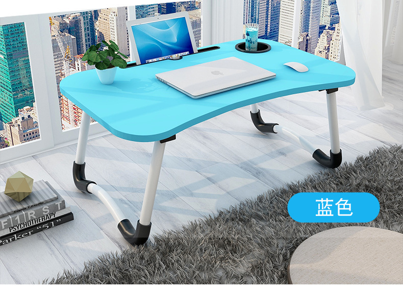 Wholesale MDF made steel pipe feet mini lazy Computer desk in bed