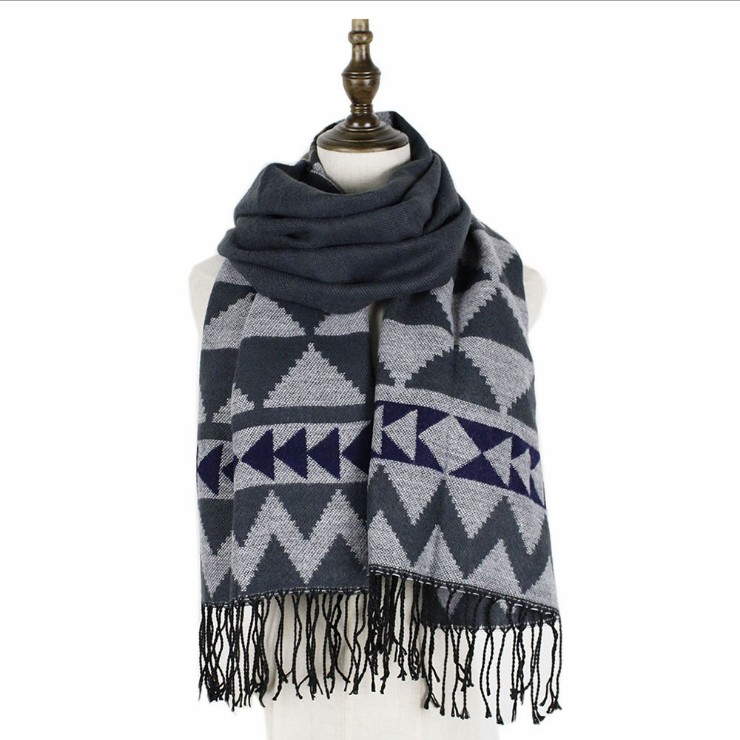 Triangle warm winter  multi-color men's and women's winter outdoor long scarf