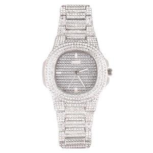 Iced Out Full Diamond mens chronograph watches gold man watch watches men wrist quartz rhinestone watches watch men