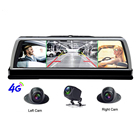 "10"" 4G WiFi 4 Cameras Android Car ADAS Dash Cam 1080P Rearview Mirror DVR Video Recorder with GPS Navigation"
