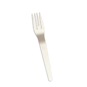 corn starch biodegradable disposable 6 inch compostable plastic moooncake fork