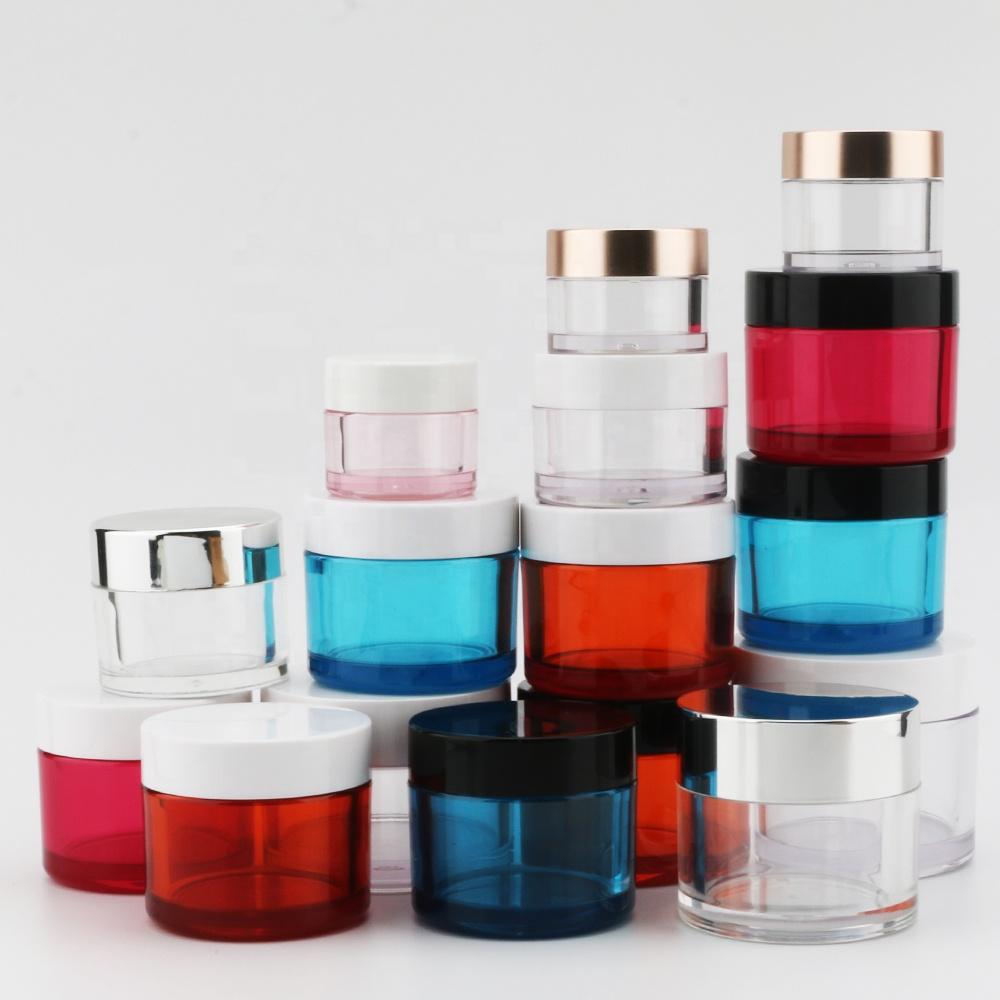 Hot Selling 1OZ 2 OZ 4OZ 8OZ Empty Petg plastic Transparent Environmental Cosmetic packaging Cream Jar