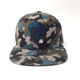 High Quality Outdoor Flat Visor Blue Digital Camo Snapback Cap