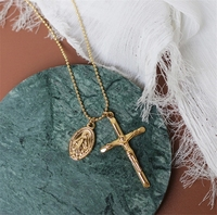 Jesus and cross pendante Special Design Stainless steel Chain Necklaces 2019 Fashion Jewelry