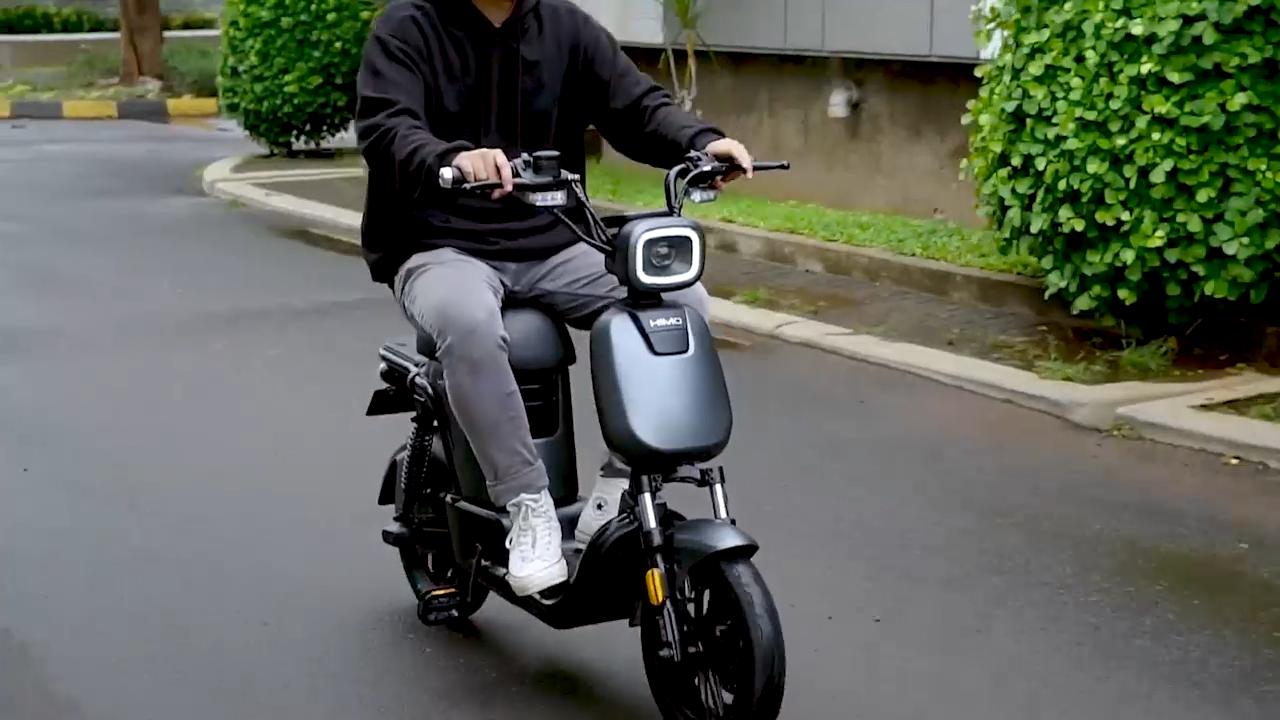 حار بيع شاومي himo T1 دراجة نارية كهربائية دراجة ليثيوم سيارة تعمل بالبطارية سكوتر 48V350W himo T1 دراجة نارية كهربائية دراجة