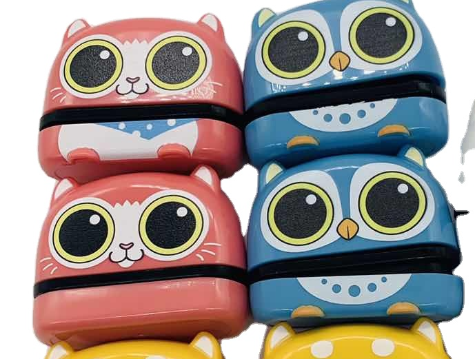 kids toy cute monster clothing fabric sweet cartoon baby name stamp flash stamp
