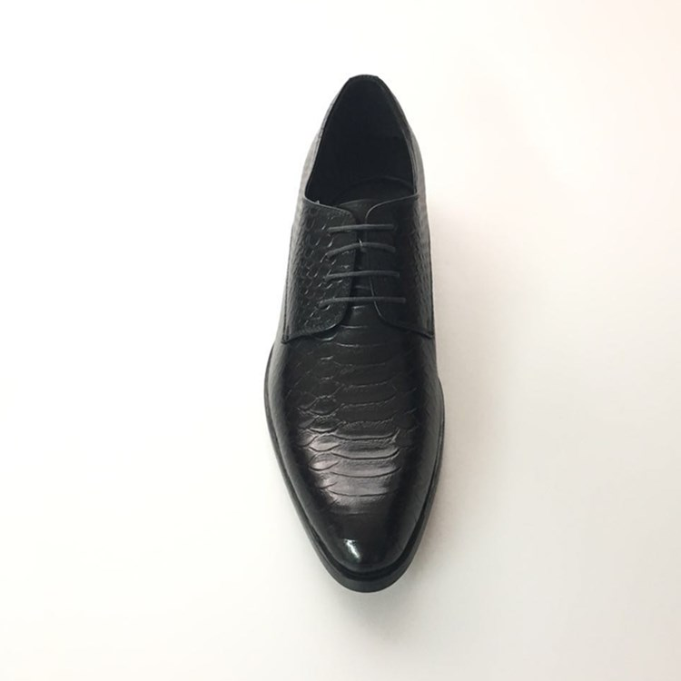 New leather embossed men's formal leather office dress shoes