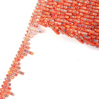 one row rod-like polychrome ss3.5 hotfix ab Crystal Rhinestone stone banding trim orange plastic chain trimimg for decorating