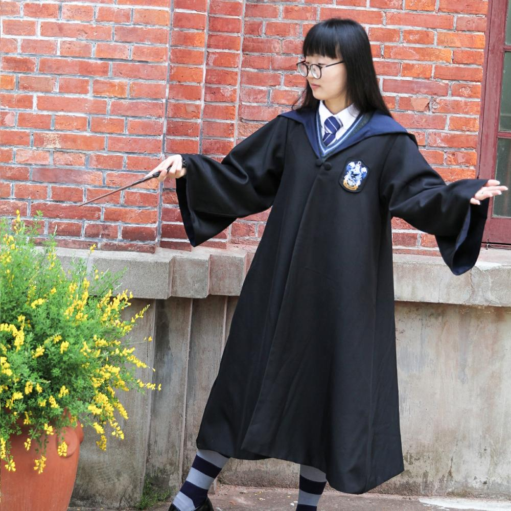 Halloween Harry Potter Deluxe Peignoir Adulte Jeunes Gryffondor Uniforme Scolaire Cape
