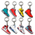 Manufacturer personalized wholesale custom enamel logo 3D fashion sublimation blank metal key chain keychain