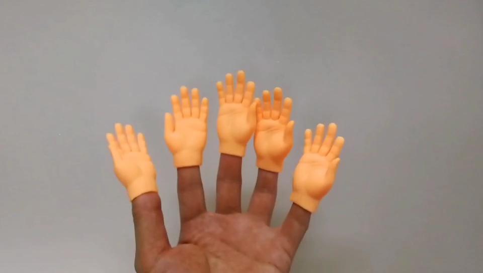 ชุดของเล่นนิ้วมือขนาดเล็ก,หุ่นนิ้วมือของเล่นซ้ายหรือขวาจำนวน10ชิ้น