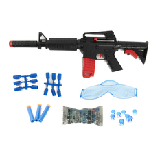 Kids Black Plastic Waterpistool M4 Water <span class=keywords><strong>Gel</strong></span> Bal Pistool met DIY Monteren Accessoires