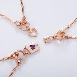 custom brand design fine silver jewellery lock zir