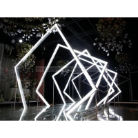 LDJ1036 Geometric Metal Arch Door Tunnel Lighted Wedding Backdrops Panels Props Stage