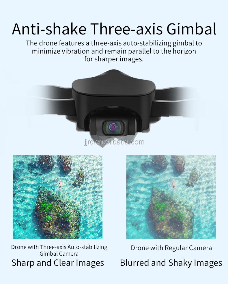 JJRC JJPRO X12  three axle gimbal professional camera drone with 4k camera and GPS