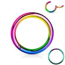 316l хирургическая сталь шарнирное пирсинг кольцо для носа 20 г 18 г 16 г 14 г 6 мм 7 мм 8 мм 9 мм 10 мм 12 мм цвет золото, розовое золото, серебро, черный(China)