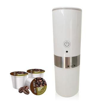 Portable Automatic K-cup Coffee Makers Stainless Steel Capsule Electric Espresso Machine for Travel Coffeemaker