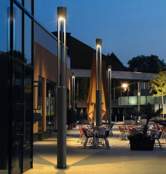 Современный изготовленный на заказ Топ светодиодный уличный светильник для сада столб столбик алюминиевый винтажный фонарь дорожка столбик лампа