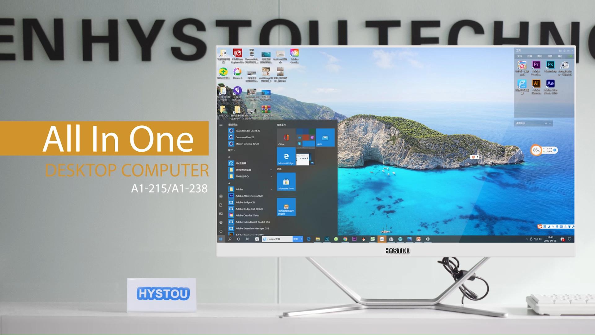 All In One Barebone PC i7 i5 i3 Desktop Computer Cheap 21.5インチ23.8インチ4G 8G RAM 256G SSD Gaming AllオールインワンPc