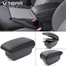 Автомобильный подлокотник Vtear, кожаный подлокотник для Dacia Renault sandero, аксессуары для центральной консоли 18(Китай)