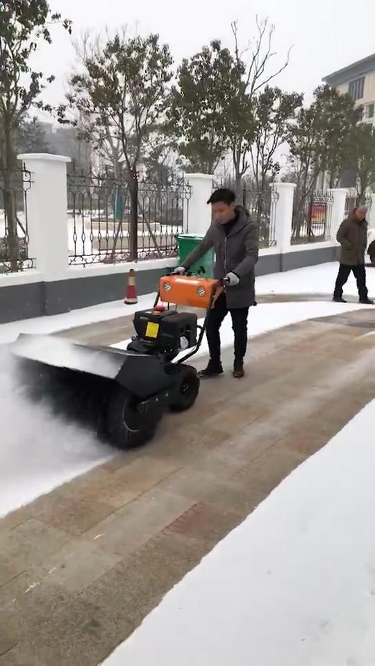 15HP gasoline engine sweeper machine snow blower