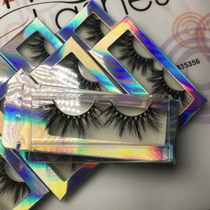 Maynice 25mm 3d mink eyelashes vendor with packaging box