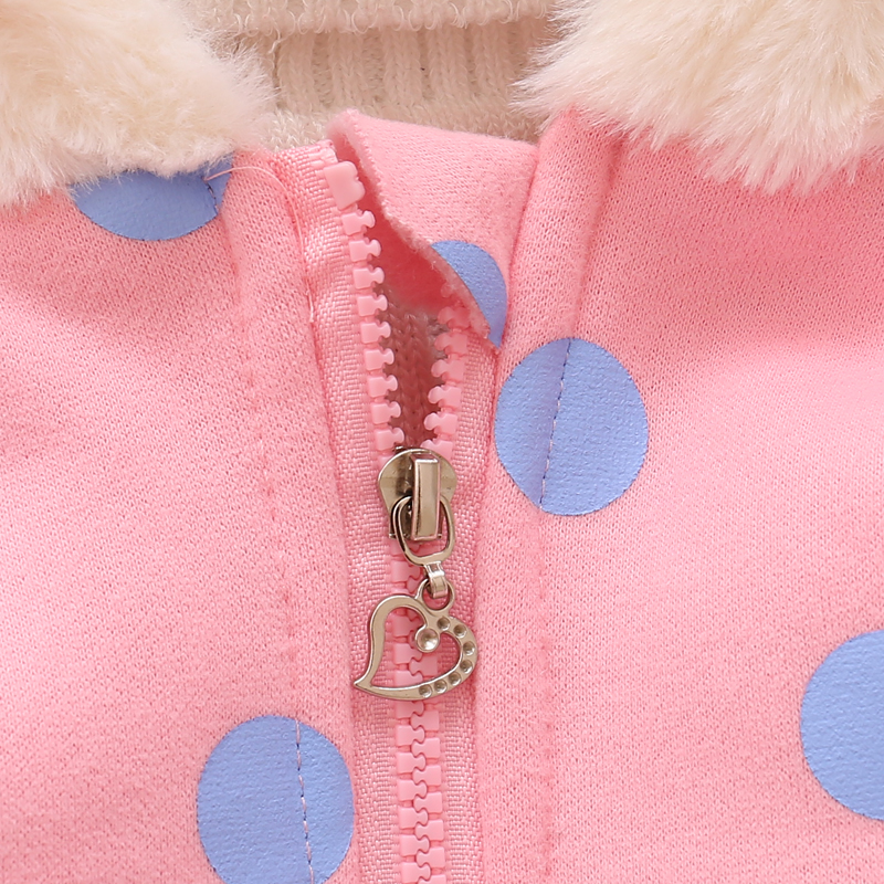 plus size100% cotton thick warm zipper baby rabbit ears hoodie cheap price baby girl coat winter