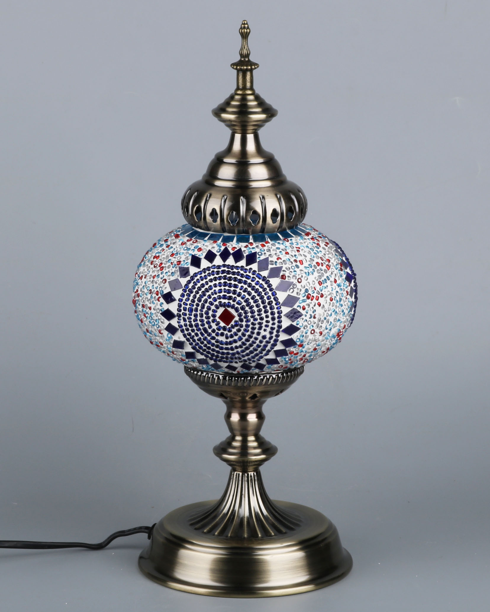 Exotic retro light restaurant cafe romantic Turkish Mosaic glass lights