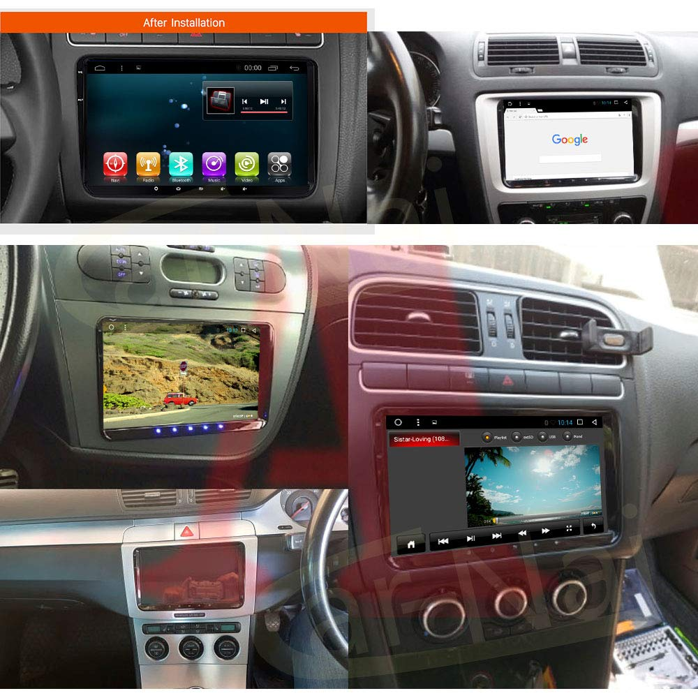 Android 9.0 Car Stereo Player Double 2 Din 9 Inch Capacitive Touch Screen GPS Navigation System FIT for Volkswagen Golf