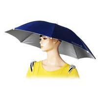 hands free Novelty Headwear sunhat umbrella Portable Travel Hiking Beach fishing head hat umbrella with uv sun protection