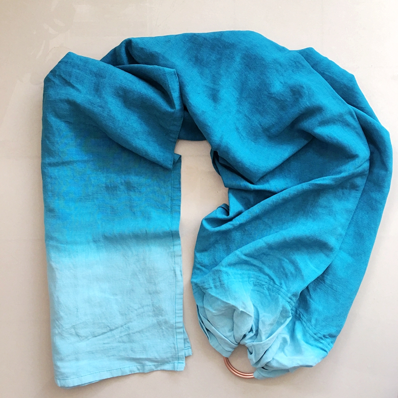 Dip Dyed Baby carrier Sling Bamboo linen