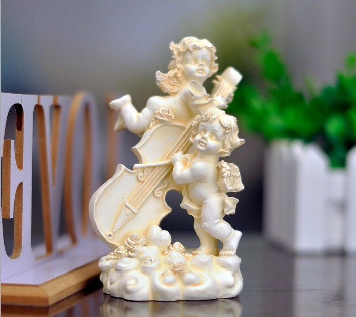 home decoration resin bless angel figurine